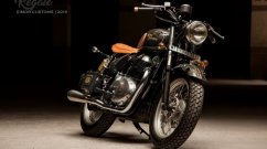 Royal Enfield Interceptor 650 tastefully modified into a vintage bobber