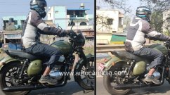 Facelifted Jawa Forty Two with alloy wheels & blacked-out theme spied