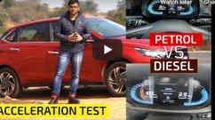 Hyundai i20 1.5L Diesel vs 1.2L NA Petrol - Acceleration Comparison