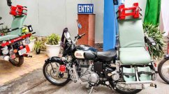 Royal Enfield Classic 350 bikes modified into ambulances by CRPF, DRDO