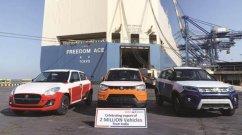 Maruti Suzuki Exports 20 Lakh Swift, Vitara Brezza, Dzire, Jimny & More