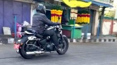 650cc Royal Enfield Cruiser Spied on City Streets [Video]