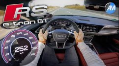Audi RS E-Tron GT Is Mind Bogglingly Quick In Its Autobahn Top Speed Run