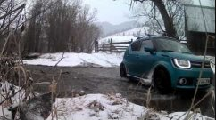 Watch This Suzuki Ignis Effortlessly Cross a Snowy River - Video