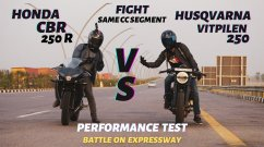 Husqvarna Vitpilen 250 vs Honda CBR250R in Top-End Drag Race [Video]