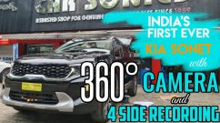 Check Out India's First Kia Sonet With A 360-Degree Camera System - VIDEO