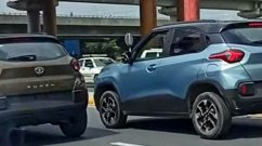 New Tata Punch Colours Spied - Blue & Brown - Dual-Tone Options