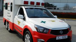Ssangyong develops ambulance application on the Korando Sports platform