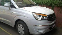 Spied - 11 seater Ssangyong Rodius spotted in India for the first time