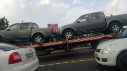 Nissan Frontier pickups spotted in Kolkata by an IAB reader