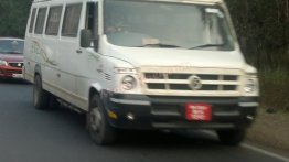 Spied - Force Traveller 26 CNG variant spotted in Pune