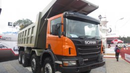 IAB Report - India-made Scania P 410 tipper makes its public debut at EXCON 2013