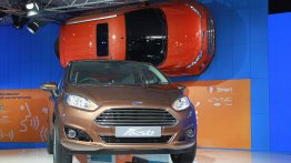 IAB Report - Ford hangs a sunroof-equipped EcoSport on its Expo booth wall