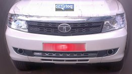 Spied - Tata Safari Storme facelift's front fascia