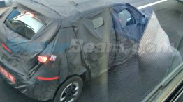 A Red Renault Kayou (Renault XBA) shows its taillight graphic - Spied