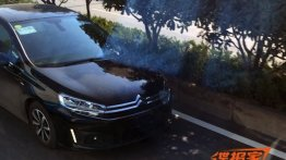 2015 Citroen C4 sedan caught testing in China - Spied