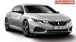 Second generation 2017 Peugeot 508 - Rendering