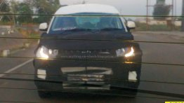 Mahindra S101 (Mahindra KUV100) spyshots show its LED DRL glow - Spied