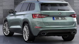 Rear of the production Skoda VisionS (Skoda Kodiak) - IAB Rendering