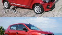 Renault Kwid vs Fiat Mobi - In Images