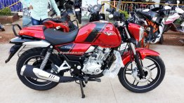 Bajaj V15 launched in Cocktail Wine Red color - In Images