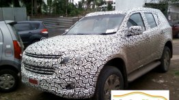 Chevrolet Trailblazer facelift spied inside and out in India