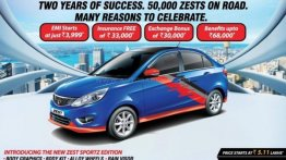 Tata Zest Sportz Edition launched to celebrate 50,000 unit sales