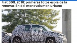 First spyshots of the 2017 Fiat 500L (facelift)