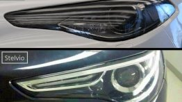Image of the Alfa Romeo Stelvio's headlamp surfaces