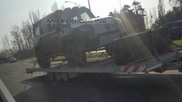 Mercedes GLB with production body parts likely spied for the first time