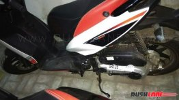 Aprilia SR125 with ARAI sticker spotted in India