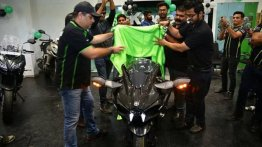 Kawasaki Ninja H2 Carbon delivered to customer in Ahmedabad