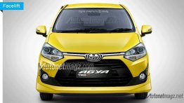 2017 Toyota Agya rendered based on leaked brochure
