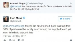 Elon Musk could delay launch of Tesla in India owing to localisation
