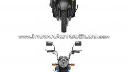 Honda Cliq vs. TVS XL 100 - Spec sheet & Pictorial comparison