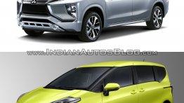 Mitsubishi Expander vs. Toyota Sienta - Images/Specs comparo