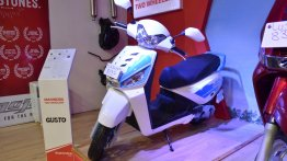 Mahindra Gusto 125 showcased at the Nepal Auto Show 2017