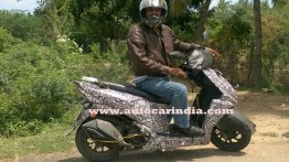 Production TVS Graphite scooter spied again