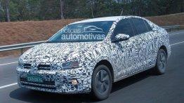 VW Virtus (2018 VW Polo Sedan) spied testing in Brazil