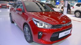 2017 Kia Rio Sedan showcased at the 2017 Dubai Motor Show