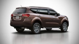2018 Nissan Paladin (Nissan Navara-based SUV)'s rear rendered