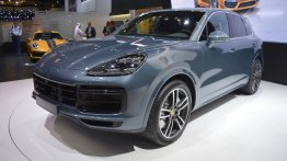2018 Porsche Cayenne Turbo showcased at the 2017 Dubai Motor Show