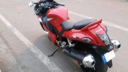 Hero Xtreme modified into a Suzuki Hayabusa replica