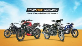 Bajaj Auto offers 1-year free insurance on select range, valid till January 15