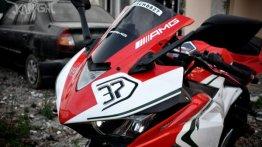 Yamaha YZF-R3 with MV Agusta Livery