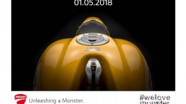 2018 Ducati Monster 821 India launch on May 1