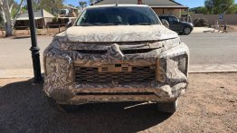 2018 Mitsubishi Triton (facelift) spied up close in Australia