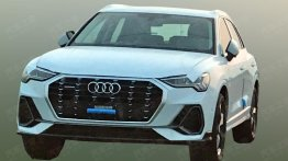 First real-life shots of the 2018 Audi Q3 in daylight surfaces