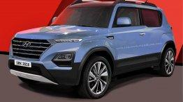 Hyundai Carlino (Maruti Vitara Brezza rival) with 'Composite Light' - Rendering