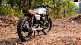 Modified Yamaha RX 135 'Tarak' brat café racer by Hindustan Customs